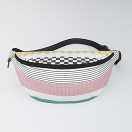 Mixed Pattern Stripe Print Color Blocking Fanny Pack