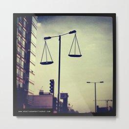 Street Light Scales Metal Print