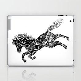 Rearing Horse Zentangle (abstract doodle) Laptop & iPad Skin
