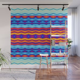 Blue OJ Chill Trip Vibe Wall Mural