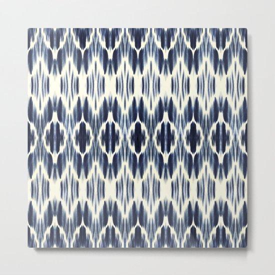 BOHEME INDIGO BLUE Metal Print