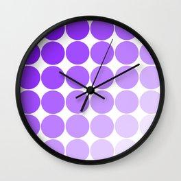 Violet Circle Color Chart Wall Clock