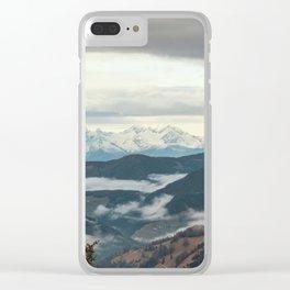 Panorama in Alta Badia, Alto Adige, Italian Alps Clear iPhone Case