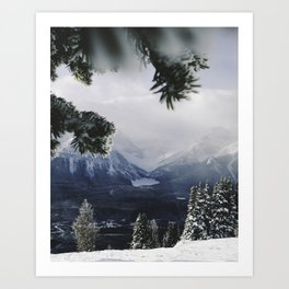 Lake Louise from the Hill, Alberta. Art Print