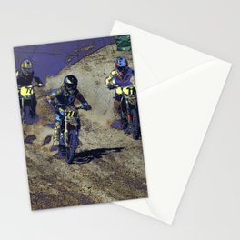 The Home Stretch - Motocross Racers Stationery Cards