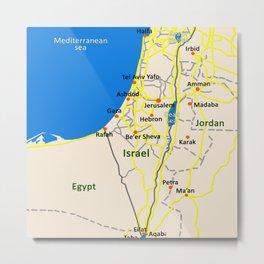 Israel Map design Metal Print