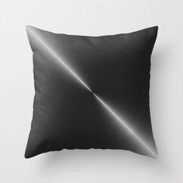 Metallic Bright Polished Steel Throw Pillow
