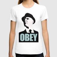 fringe T-shirts featuring OBEY (Fringe) by Matheus Lopes