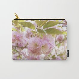 double cherry blossoms with soft hues of pink petals Carry-All Pouch