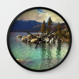 Sand Harbor Lake Tahoe II Wall Clock