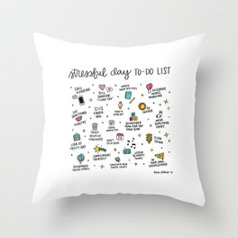 Stressful Day To-Do List Throw Pillow