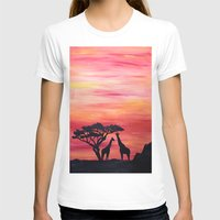 africa T-shirts featuring Africa by Monica Georg-Buller