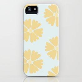 Yellow Flower Pattern iPhone Case