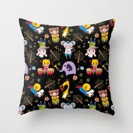Cute animals band Throw Pillow