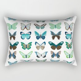 Green and Blue Butterflies Rectangular Pillow