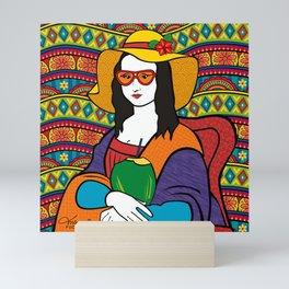 Monalisa Tropical Mini Art Print