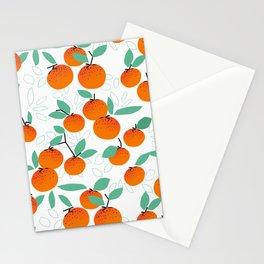 Oranges on White Stationery Cards