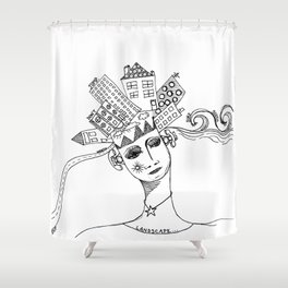 Landscape Escape GRRRL Shower Curtain