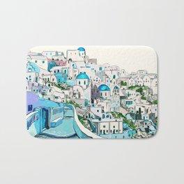 Santorini Oia Bath Mat
