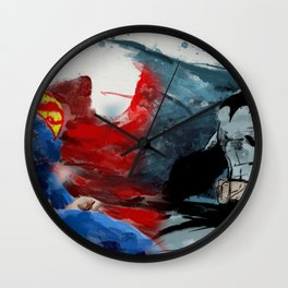 Super V Bats Wall Clock