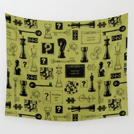 Brain Teaser pattern Wall Tapestry
