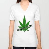 hawaiian V-neck T-shirts featuring Butterscotch Hawaiian by kidkb09