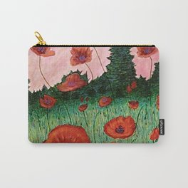 Fields of Red Carry-All Pouch