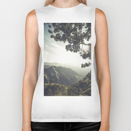 Mountain sunrise Biker Tank