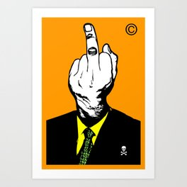 Mr Finger Art Print