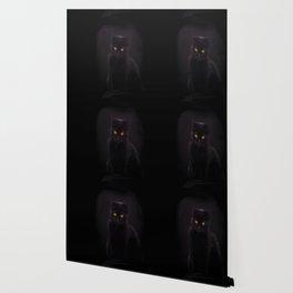 Black Cat On A Black Background #decor #buyart #society6 Wallpaper