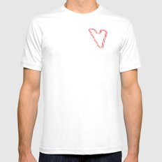 Candy Cane Love White Mens Fitted Tee MEDIUM