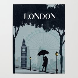 London vintage poster travel Poster