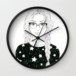 Stars manga girl Wall Clock