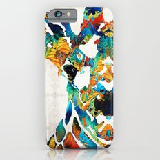 Colorful Giraffe Art - Curious - By Sharon Cummings Slim Case iPhone 6