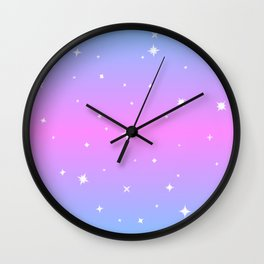 Magical Girl Stars Wall Clock