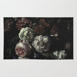 Arms Full Of Flowers II [antique painting remixed] Rug