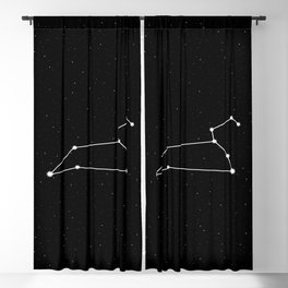 Leo Star Sign Night Sky Blackout Curtain