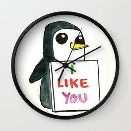 Pinguin Love Wall Clock