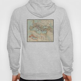 Vintage Map of The Roman Empire (1889) Hoody