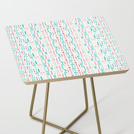 AFE Abstract  Pattern Side Table