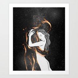 I'm burning into you. Art Print