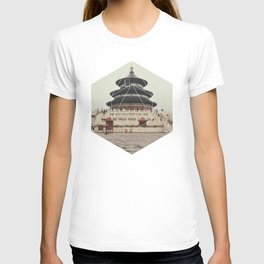 Spiritual Buddha Temple - Geometric Photography T-shirt