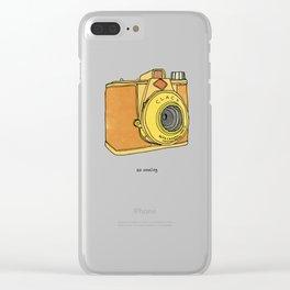 So Analog - Agfa Clack Retro Vintage Camera Clear iPhone Case