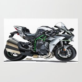 The Supercharged Kawasaki Ninja H2 Hypersport Bike Rug