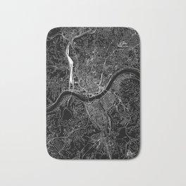 Cincinnati Black Map Bath Mat