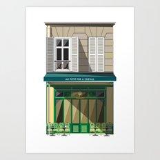 Evening  in Paris Art Print