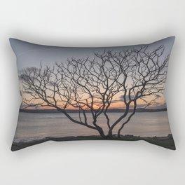 Sunset tree Niles Beach Rectangular Pillow