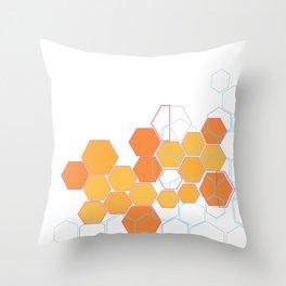 Mosaic orange Throw Pillow