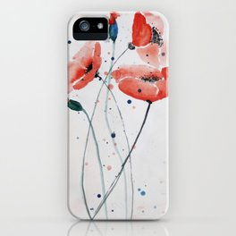 Poppies no 2 iPhone Case