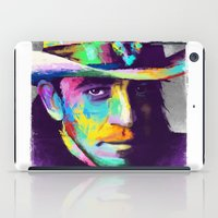 stevie nicks iPad Cases featuring Stevie Ray Vaughan  by Jon Finlayson
